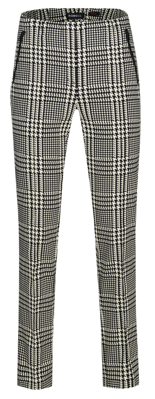 ROBELL Dogtooth Check Print Trousers