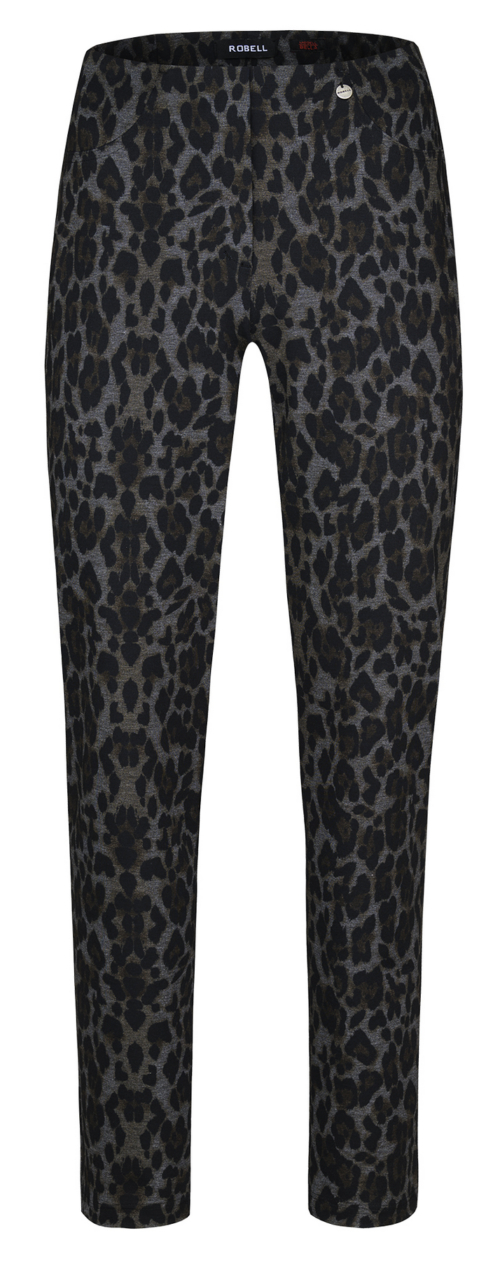 ROBELL Animal Print Trousers