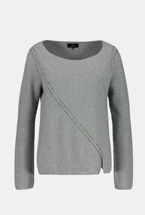 MONARI Grey Metallic Cotton Knit