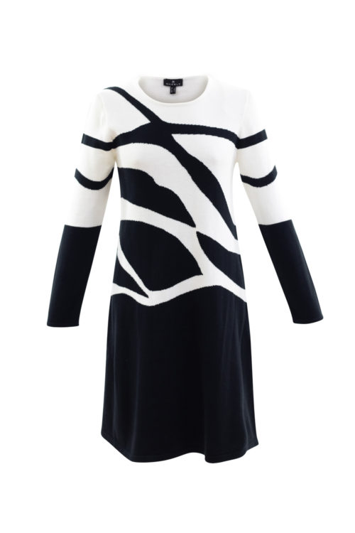 MARBLE Abstract Print Dress