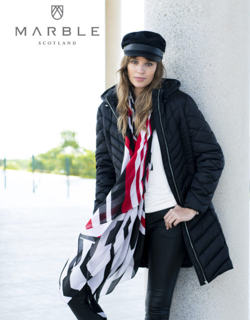 MARBLE Red Print Scarf