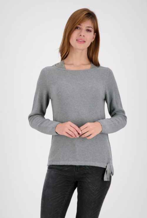 MONARI Grey Cotton Knit With Sparkle