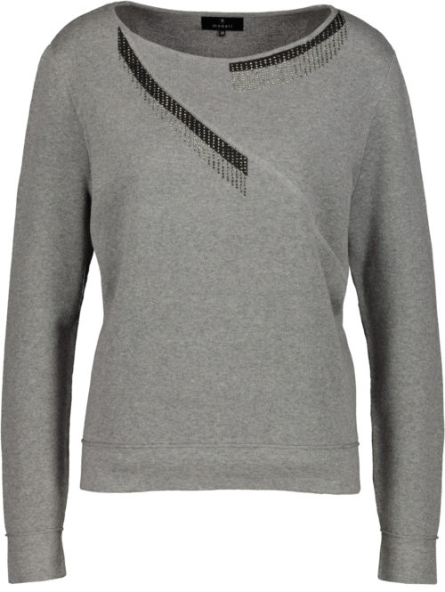 MONARI Grey Sweatshirt With Sparkle