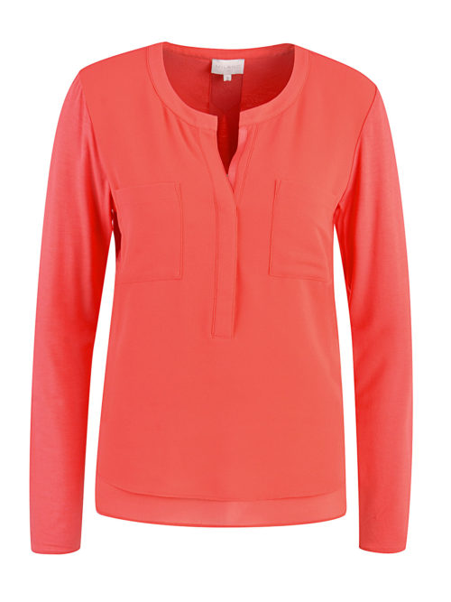 MILANO Red Silky Front Top