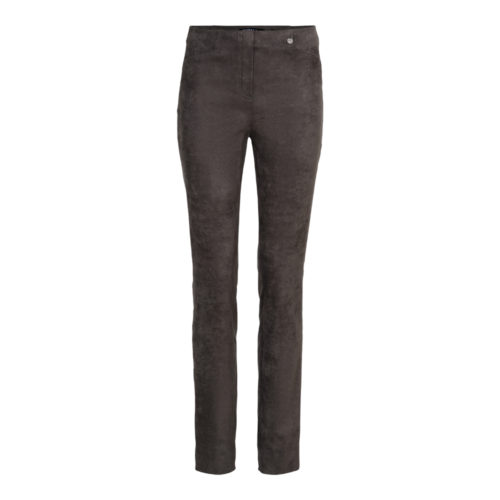 ROBELL Taupe Faux Suede Trousers