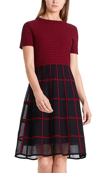 MARC CAIN Dogtooth Knit Dress