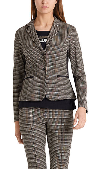 MARC CAIN Sporty Check Jersey Blazer