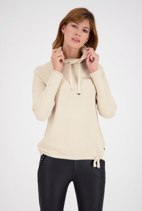 MONARI Stone Cotton Knit With Cowl Neck