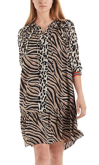 MARC CAIN Leopard Print Frill Dress