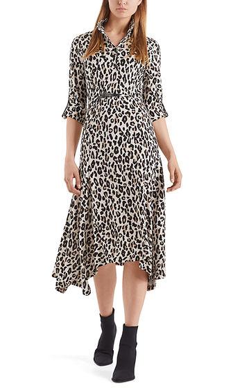 MARC CAIN Leopard Print Shirt Dress
