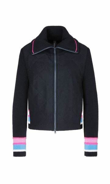MARC CAIN Sporty Stripe Knit Jacket