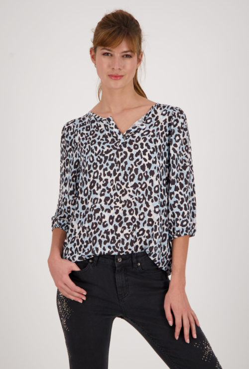 MONARI Animal Print Top With Drawstring