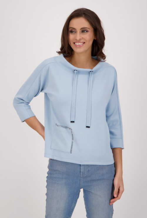 MONARI Sporty Sweatshirt With Sparkle