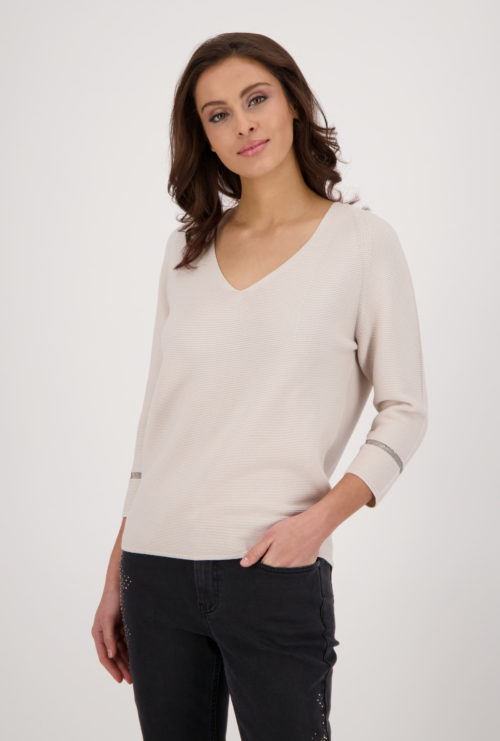 MONARI Stone Cotton Rib Knit