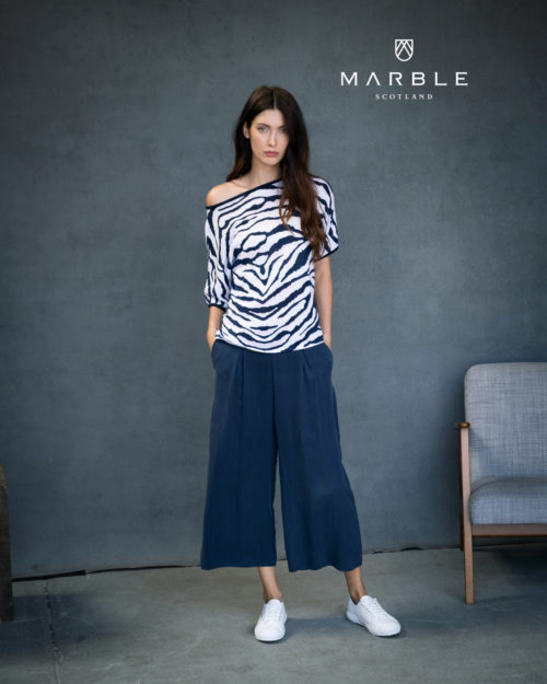 MARBLE Animal Print Fine Knit