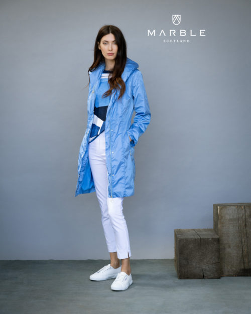 MARBLE Lightweight Blue Coat