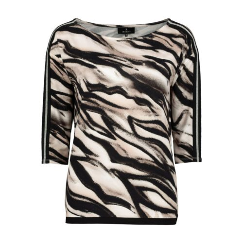 MONARI Animal Print Stretch Top