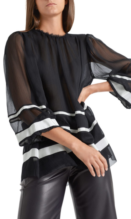 MARC CAIN Loose Fit Silky Blouse
