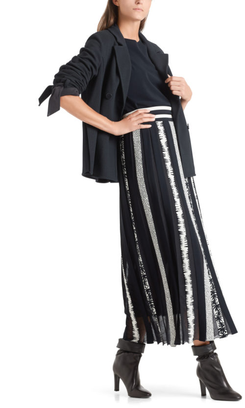 Marc Cain Maxi Skirt With Knitted Pleats