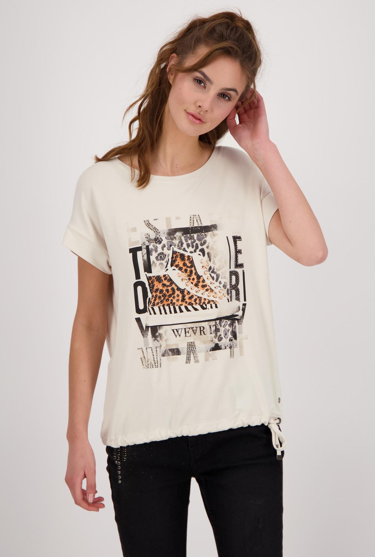 MONARI Tiger Print Stretch Jersey Top