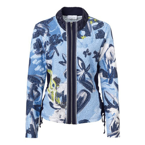 JUST WHITE Abstract Print Jacket & Vest Top