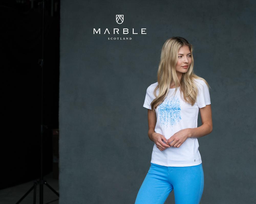 MARBLE Blue Print T-Shirt