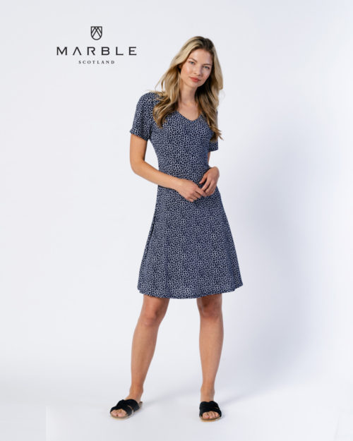 MARBLE Abstract Print Reversible Dress