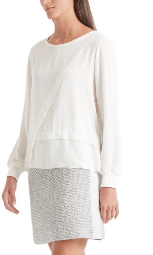 MARC CAIN Off-White Blouse-Style Top
