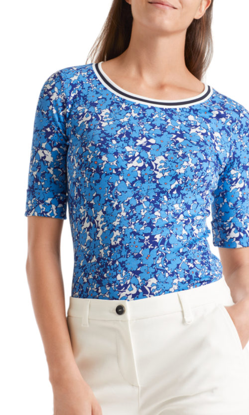 MARC CAIN Sporty Floral Print Top