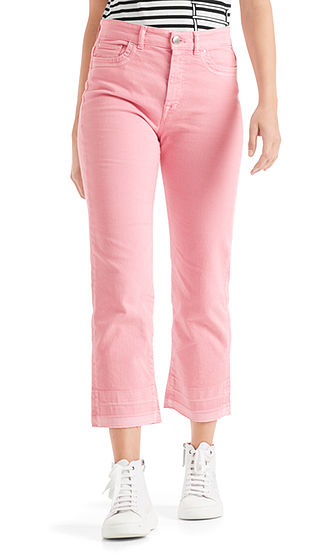 MARC CAIN Crop Jeans With Embroidered Logo