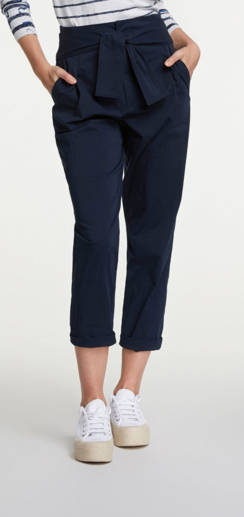 OUI Navy Knot Front Trousers