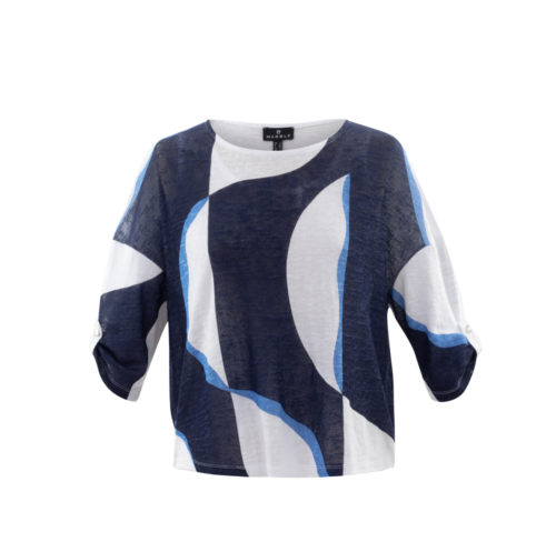 MARBLE Double Layer Top With Roll Sleeves