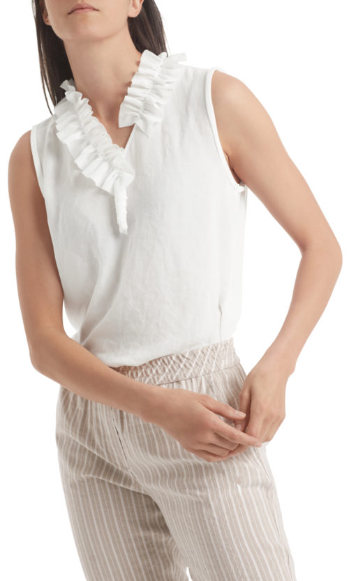 MARC CAIN Frill Detail Top