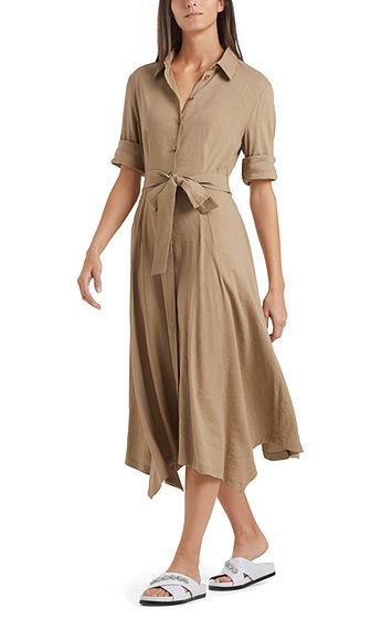 MARC CAIN Linen Blend Shirt Dress