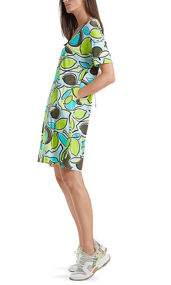 MARC CAIN Abstract Lime Print Dress