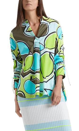 MARC CAIN Abstract Lime Print Cotton Tunic