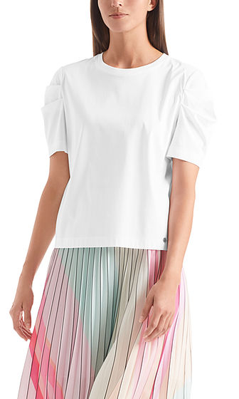 MARC CAIN Cotton Top With Sleeve Detail
