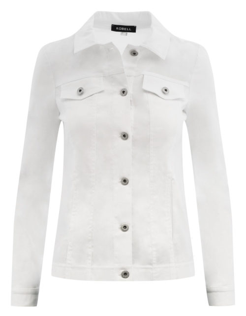 ROBELL White Stretch Jacket