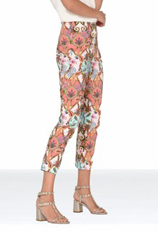 ROBELL Bright Paisley Print Crop Trousers