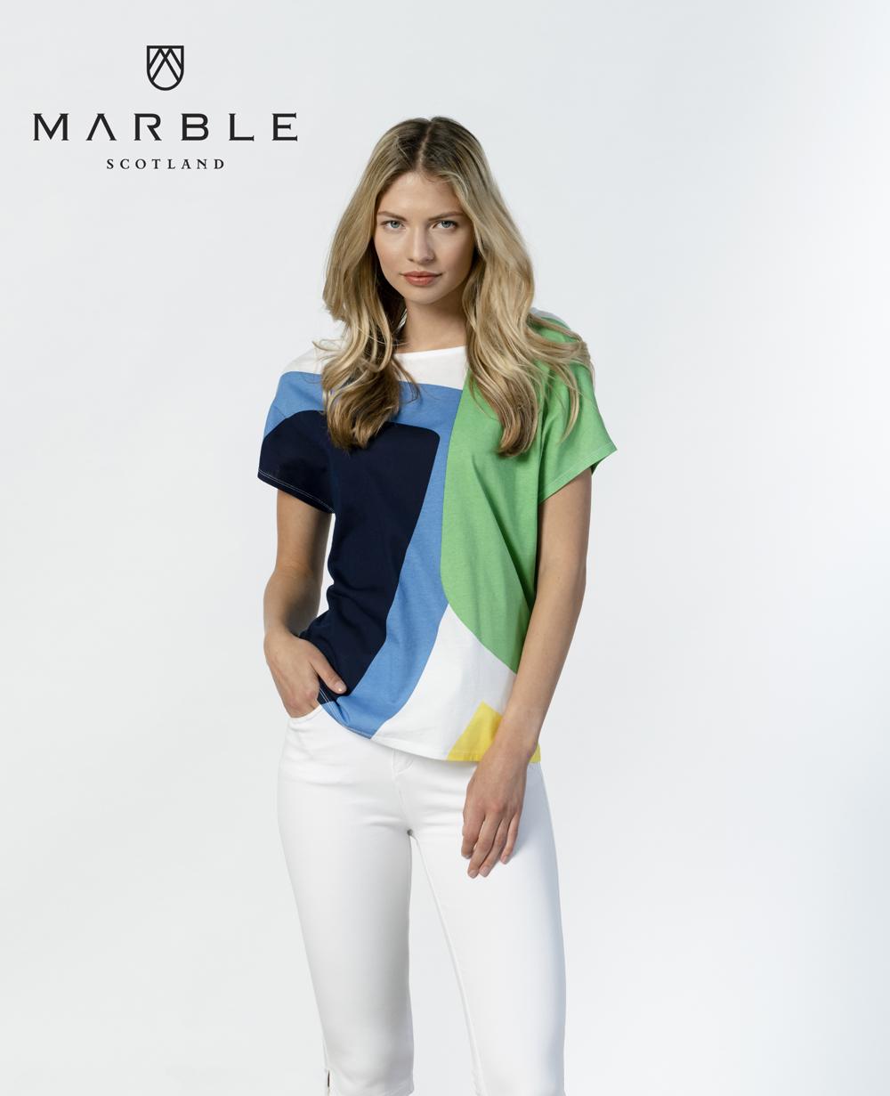 MARBLE Bright Geometric Print T-Shirt