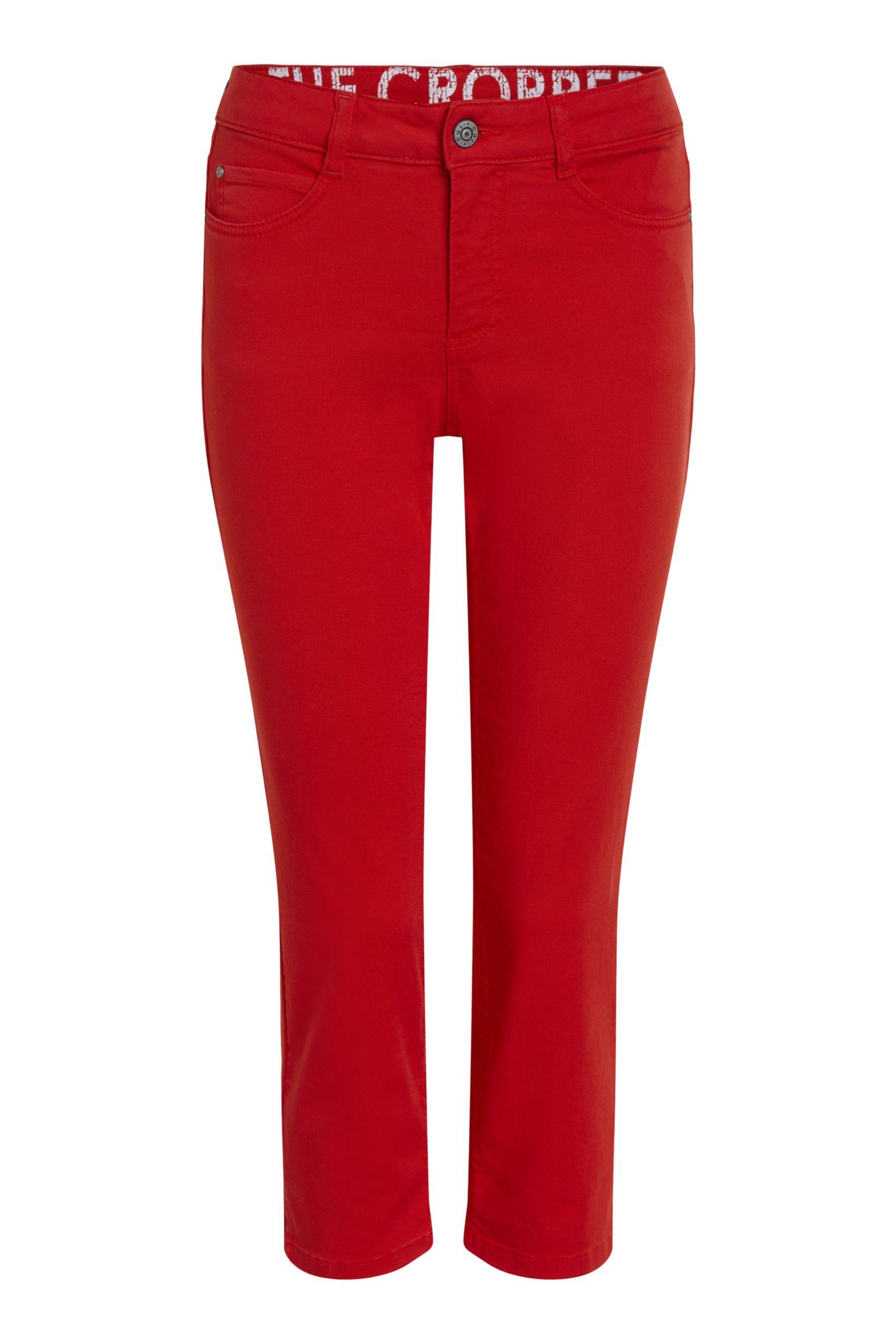OUI Fiery Red Crop Jeans