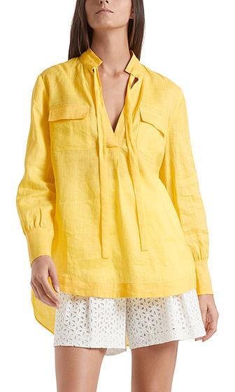 MARC CAIN Linen Look Yellow Tunic