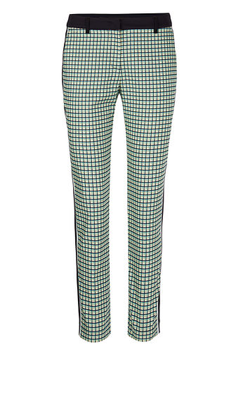 MARC CAIN Sporty Check Trousers
