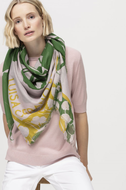 Luisa Cerano Abstract Print Scarf
