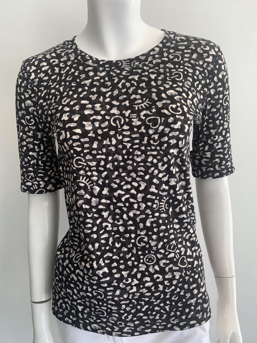 MARC CAIN Icon Leopard Print T-Shirt