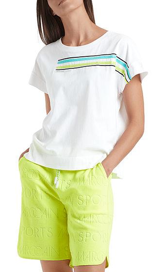 MARC CAIN T-Shirt With Sparkle Stripes