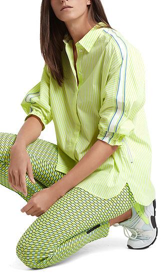 MARC CAIN Lime Stripe Shirt