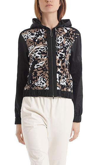 MARC CAIN Leopard Print Zip Jacket