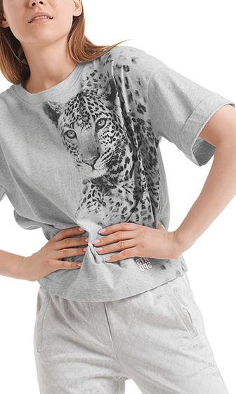 MARC CAIN Grey Leopard T-Shirt