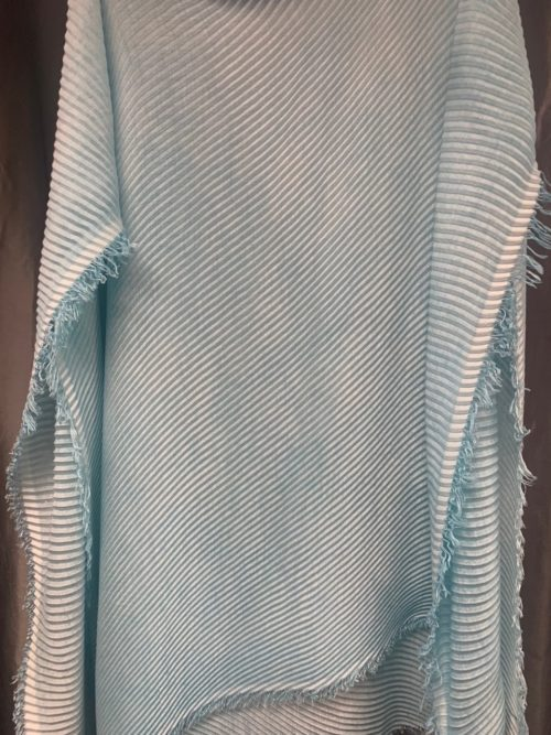 MARC CAIN Shaded Turquoise Pleat Scarf